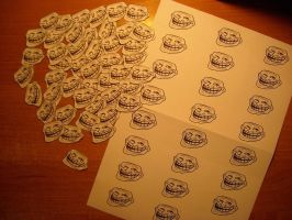 Trollface stickers by Enyscore