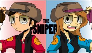 The Sniper- Red and BLU by s0s2