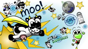 Cow Invaders Wallpaper, final version in superHD! by MarkProductions