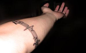 Music tattoo by Antrax23