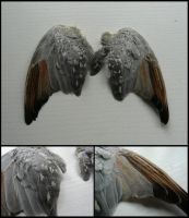 Diamond Dove Wings by CabinetCuriosities