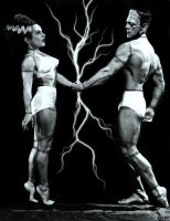 The bride and frankenstein hit the gym by deeds666