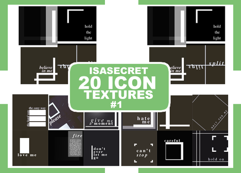 Icon Texture Pack #1 by IsaSecret1