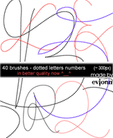 dotted letters numbers by evionn