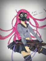Gas Mask Girl by BetaSix
