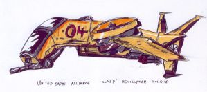 United Earth Wasp Gunship by fongsaunder