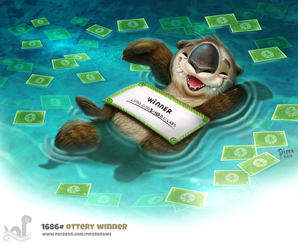Daily Painting 1686# Ottery Winner by Cryptid-Creations