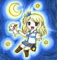 Lucy and Plue by HanaMoe