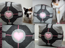 Companion Cube_and_Cat by calen383