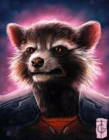 Fast Drawing - Rocket Raccoon by thegameworld