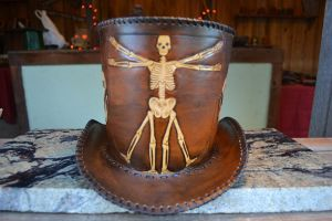 Steampunk Leather Top Hat by XtreamLeatherWorks