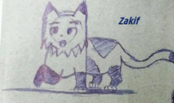 Drawing a Cat :3 by zak12