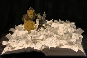 Wizard of Oz Book Sculpture by wetcanvas