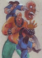 Anseau VS the giant by Chevic