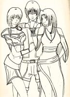 Kaina, Demyan and Laurinya by mistylear