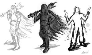 assassins postures by ShadowSnake67