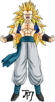 Adult Gotenks SSJ3 T.A. by jeanpaul007