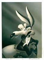 Wile E Coyote looks dramatic by Bjnix248