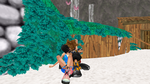 Me And Sora Kiss In Destiny Island by kari5