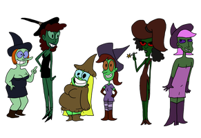 Dinner Party Witches by EggHeadCheesyBird