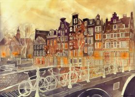 Evening in Amsterdam by takmaj