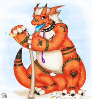 Commish: snow snow everywhere by Le-Juge