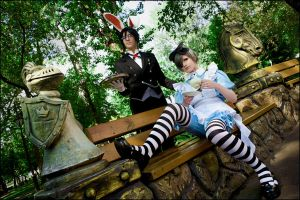 Ciel in Wonderland: Tea Party by general-kuroru