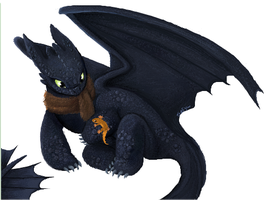 Middy the Night Fury by Patsuko