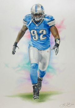 Cliff Avril - Colored Pencil by golfiscool