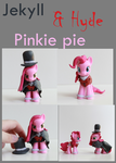Jekyll and Hyde Pinkie Pie Customs by alltheApples