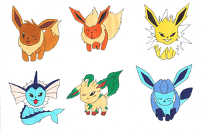 PKMN-Battle-Frontier - eevees by Freaky-chan