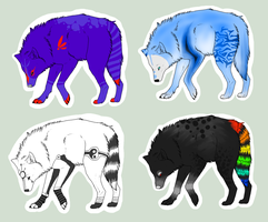Wolf Adoptables [CLOSED] by MyraethCorax