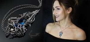NATHARDIL - Silver and Blue Quartz. by LUNARIEEN