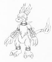 Sketch - Magmar by hunterbahamut