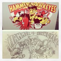 Hammer Hawkeyes: Sketch to Final by finkgraphics