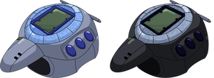 Digimon Adventure V-Tamer - Digivices 01 HD+Base by NelaNequin