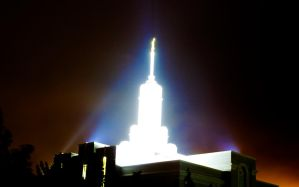 Timpanogos Temple at Night by sonicmotion