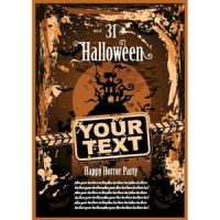 Free vector of halloween party Treats template des by cgvector