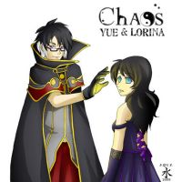 Chaos - Yue and Lorina by AquaWaters