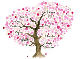 Commissioned Family Tree II by Angela-Vandenbogaard