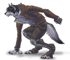 Quickdraw, Werewolf Style by Anuwolf