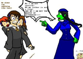 Elphaba at Hogwarts by NotAlwaysSane
