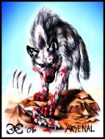 Arsenal -White Blood Wolf by Mutley-the-Cat
