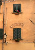 Windows with geraniums by seianti