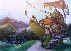 Early Morning Turtle Mercantile by Blueberry-Cat