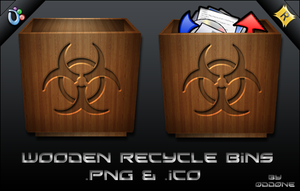 Wood Recycle Bins by 0dd0ne