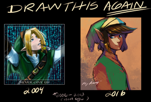 Draw this again:  Link Legend of Zelda by pho3nixdown