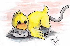 Chicken Moodcat by LenaZLair