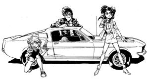 Gunsmith Cats commission by Dogsupreme