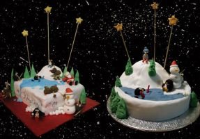 Christmas cakes 06 by InvisibleSnow